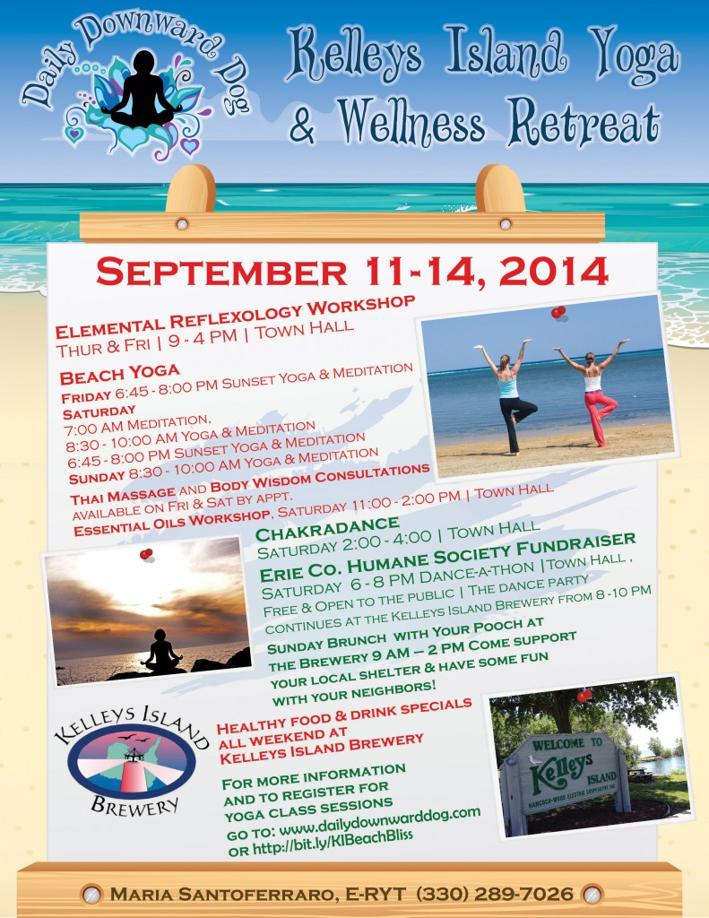 Kelleys Island Yoga Retreat Full Page flyer