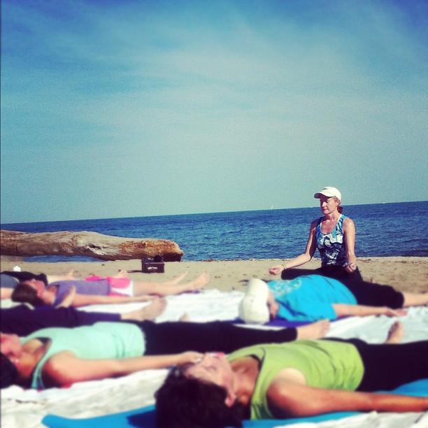 Doing What I Love - Teaching Beach Yoga