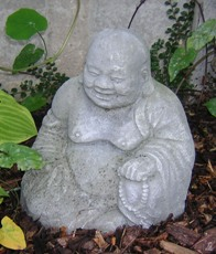 small smiling buddha