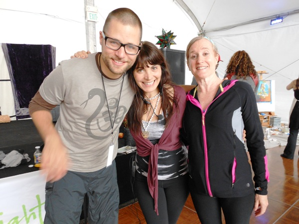Hanging out with MC and Amanda at Tadasana Festival