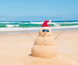 Holiday Sandman on the Beach