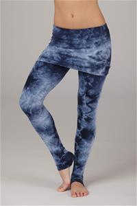 organic crystal washed fold over leggings