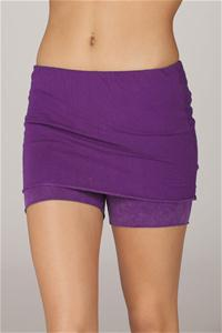 organic fold over shorts deep purple