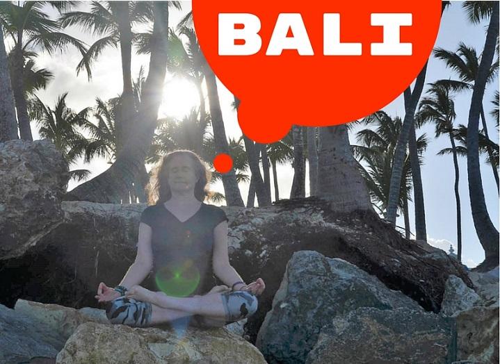 Meditating on Bali